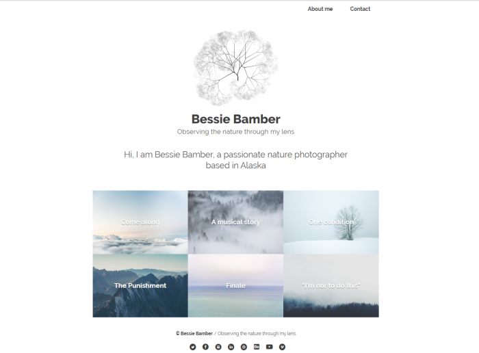Bessie Bamber website template