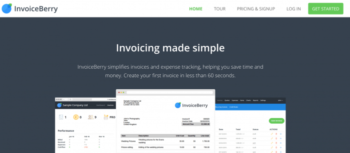 invoiceberry page