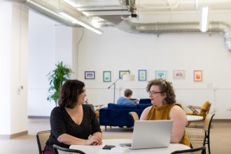 business people discuss recruitment goals