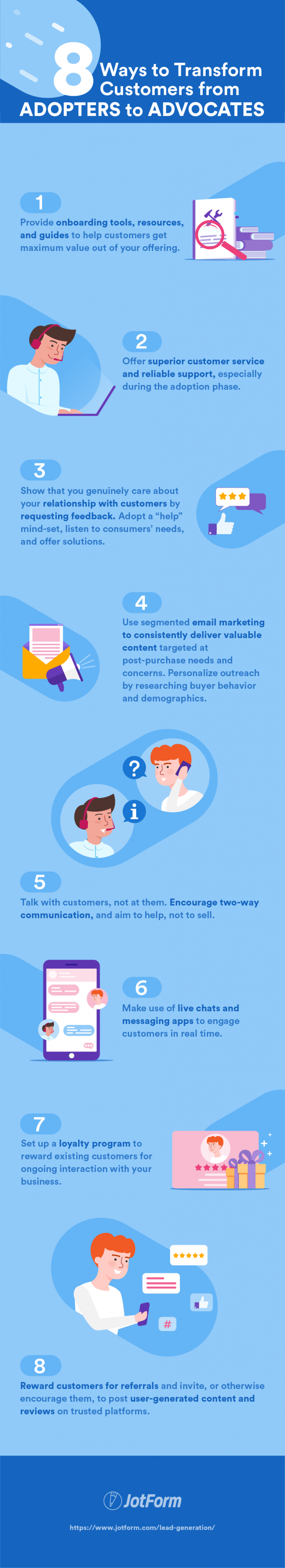 8 ways to transform customers from adopters to advocates