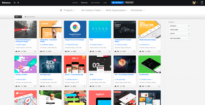 designer portfolio on behance