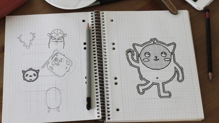 mascot sketch