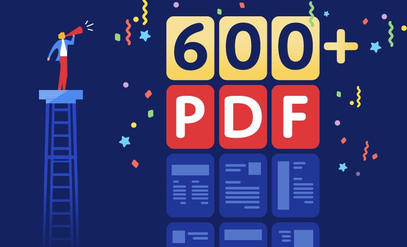 Announcing 600+ PDF templates
