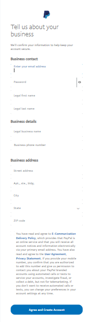 "providing more information about your business in the ""tell us about your business"" screen"
