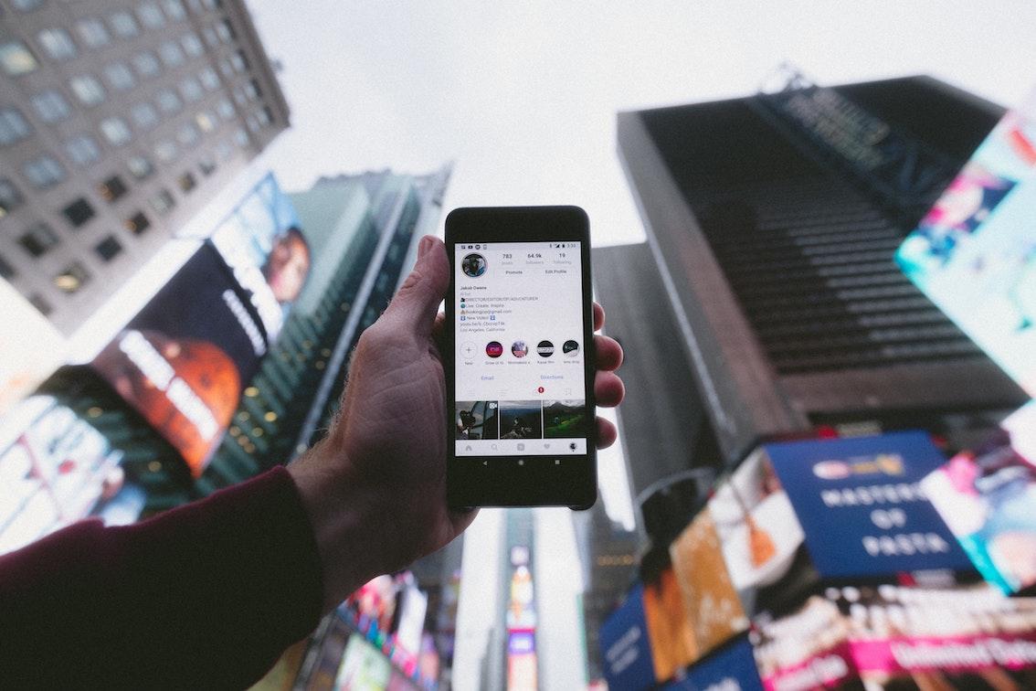 a social media screen
