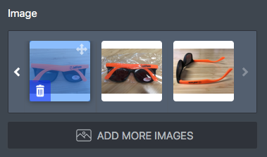 Changing the order of the images