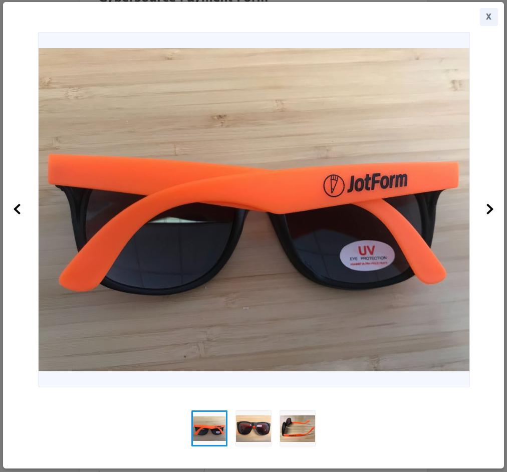 JotForm glasses