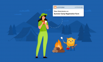 Summer camp JotForm user receives notification from JotForm Mobile Application