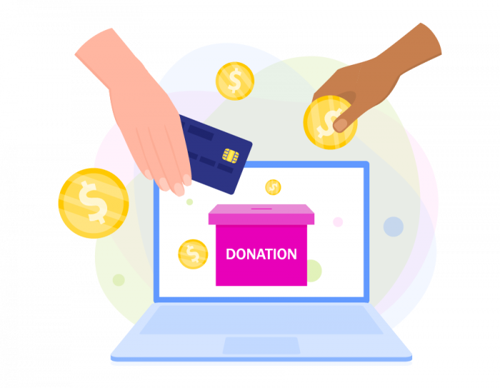 Online nonprofit donations