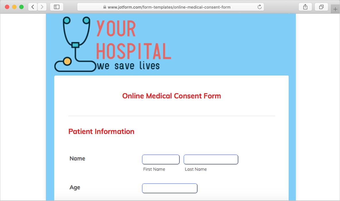 online medical consent form