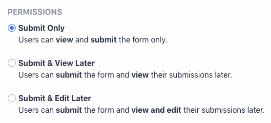 Setting Submit Only option