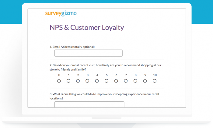 NPS & customer loyalty survey by SurveyGizmo