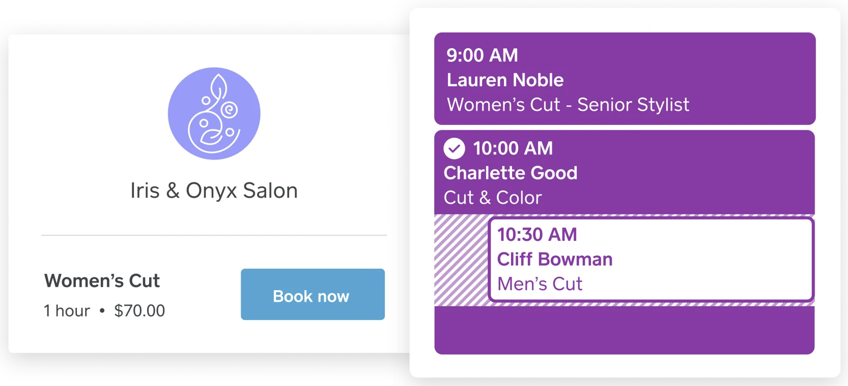 salon scheduling on Square Appointments