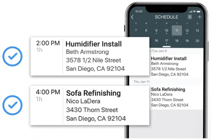 scheduling on Housecall Pro