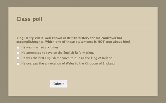 class poll template