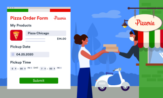 How to make order forms for pickup and delivery