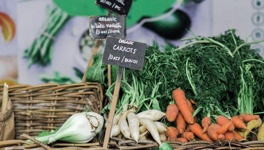 organically grown goods