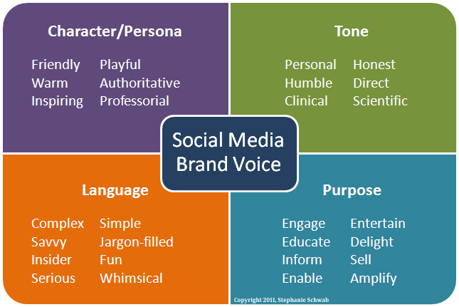 infographic of brand voice on social media