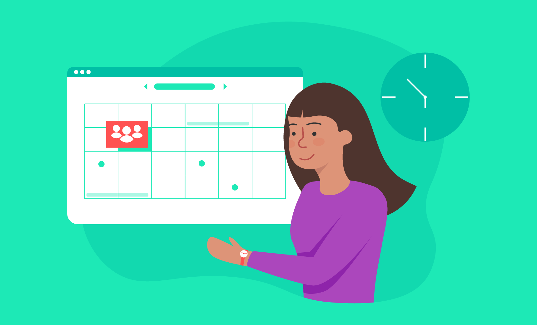using scheduling software