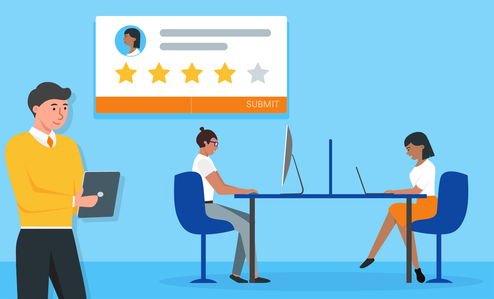 manager evaluate their employee with online form