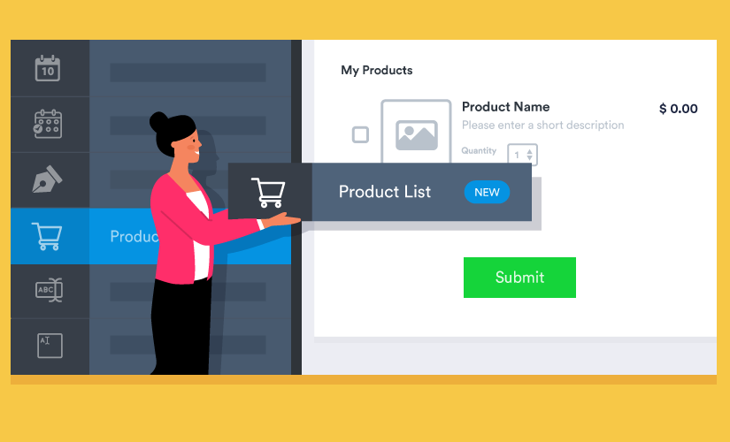 Introducing a new product list form field