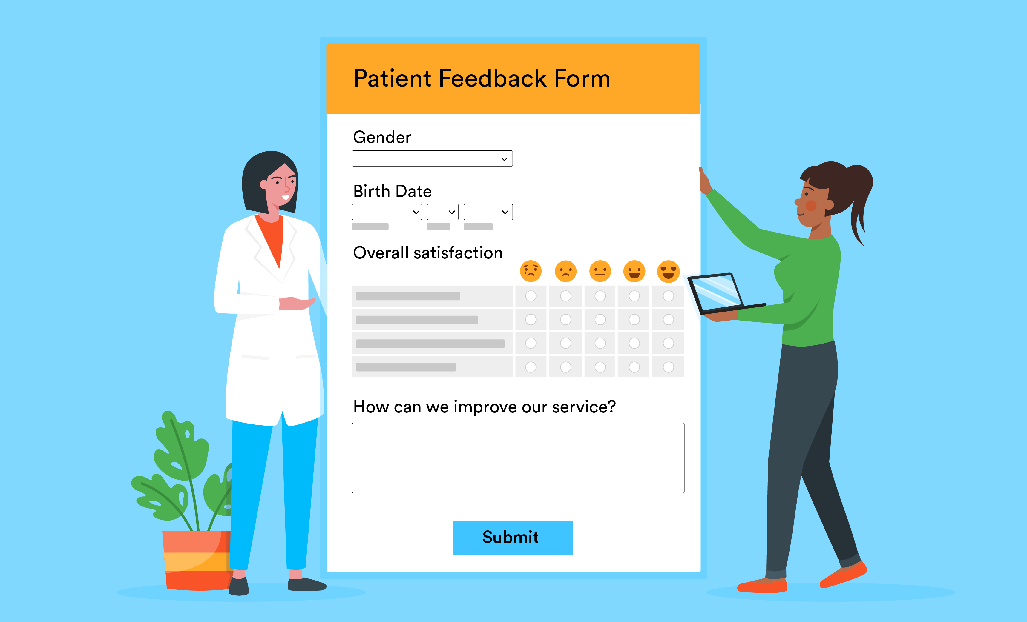 better communication with online patient feedback form