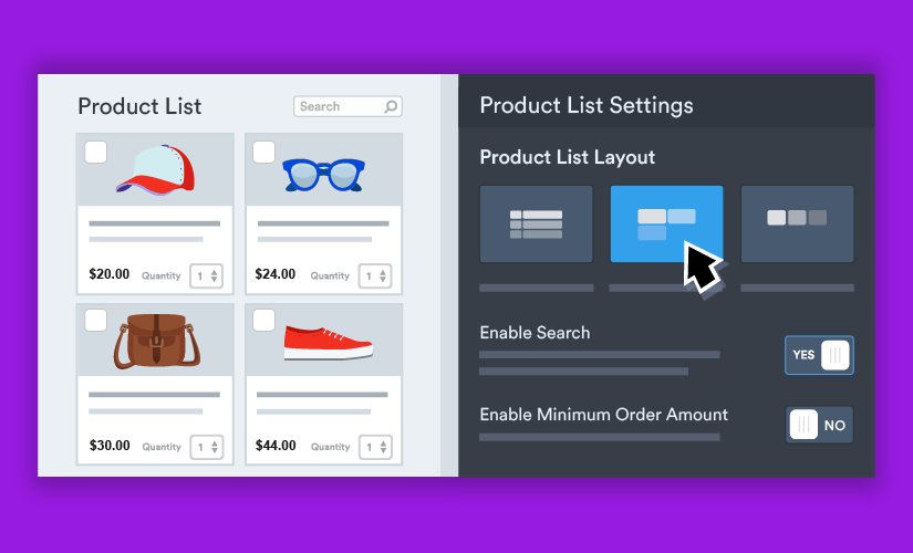 Introducing new card view display options for product order forms