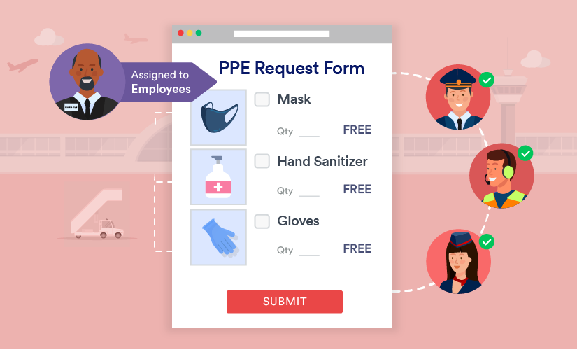 How to create a PPE request form