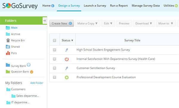 SoGoSurvey's survey builder