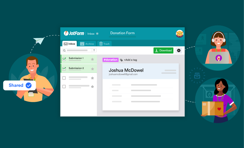 How to collaborate and communicate using JotForm Inbox