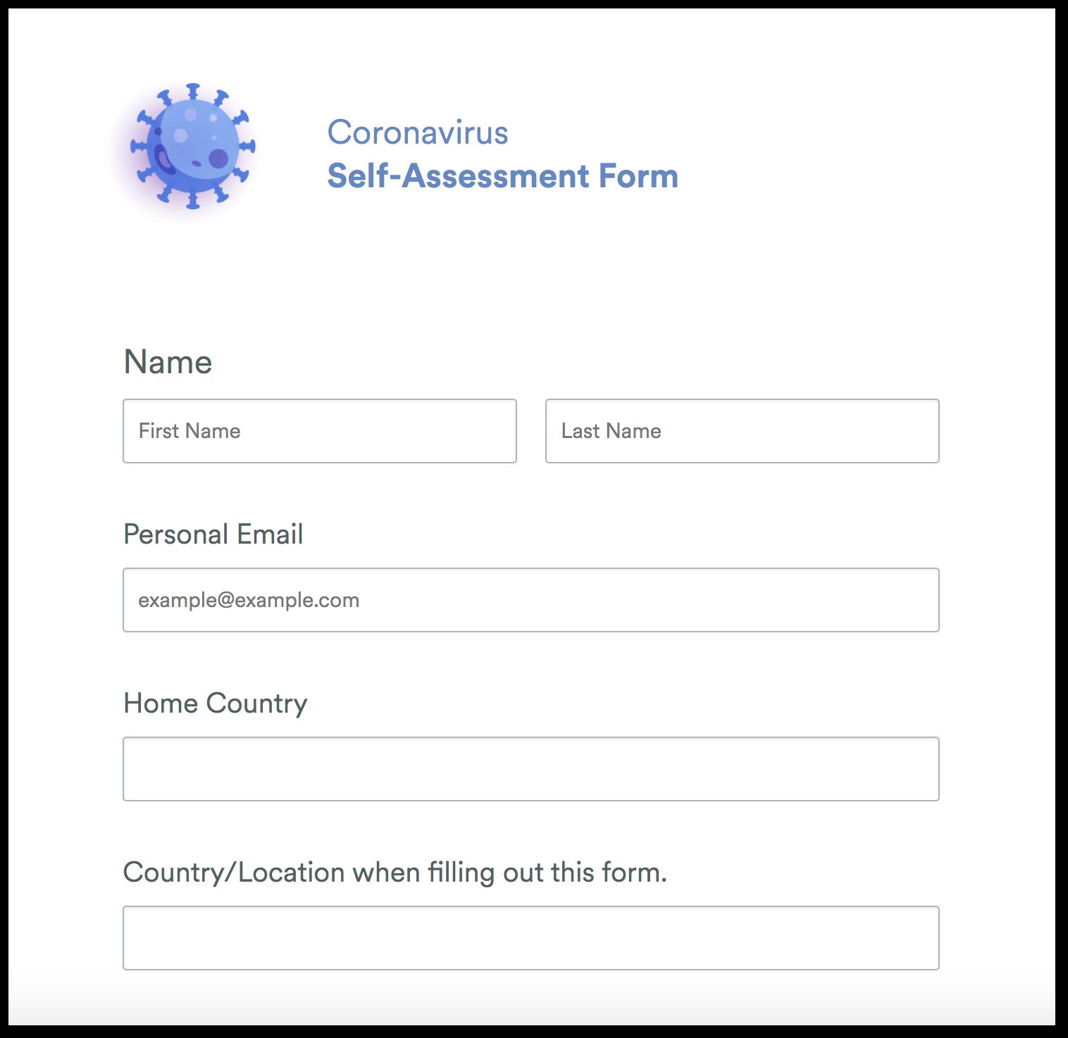 Coronavirus Self Assessment Form Template Jotform You cringe at the mere. coronavirus self assessment form