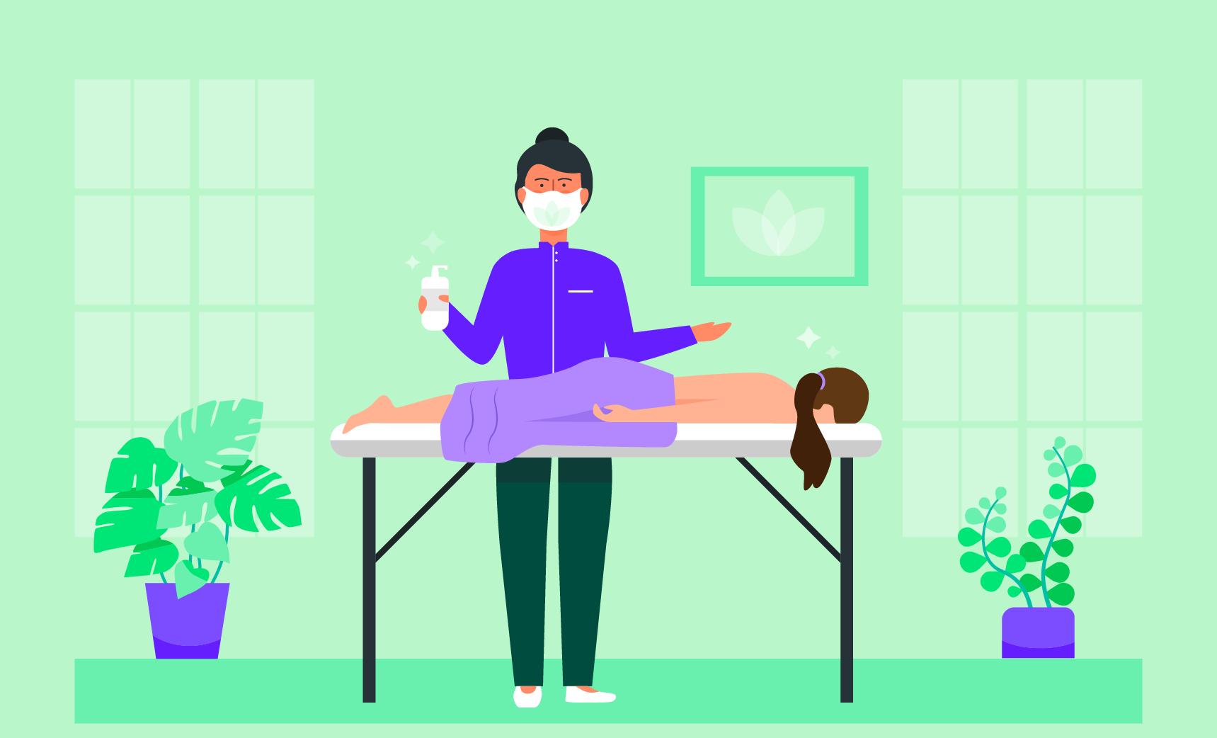 massage therapist repoen their business