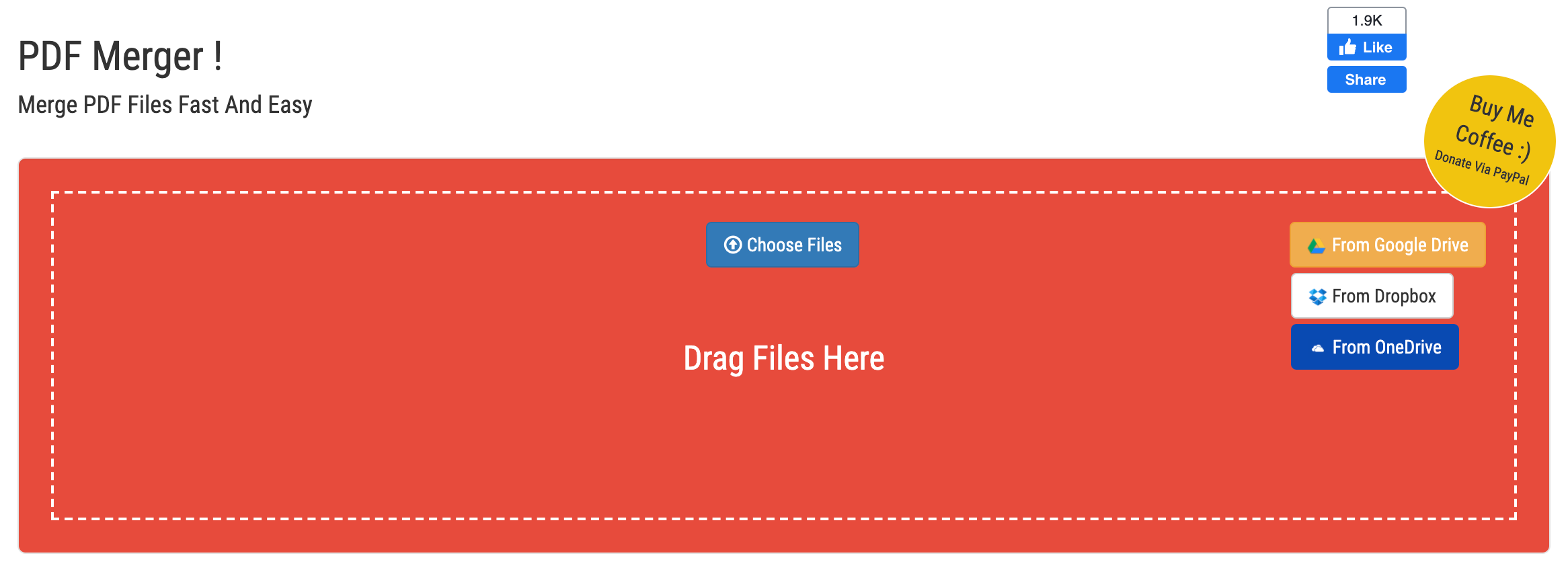 Select files, PDF Merge Files