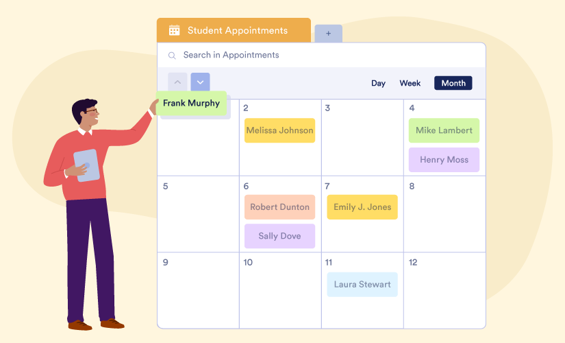 How a professor uses JotForm Tables to manage student appointments