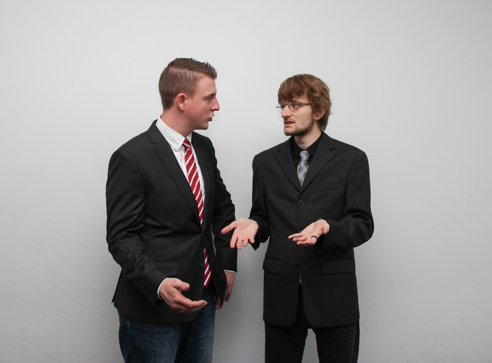 Two colleagues during an argument in the workplace.