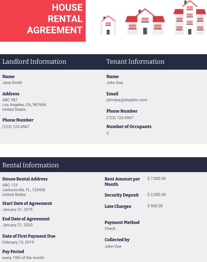 House Rental Lease Agreement Template Pdf Templates Jotform