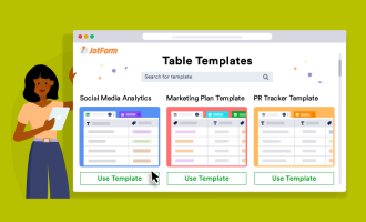 5 JotForm table templates for marketers