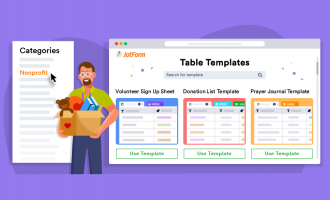 9 table templates to help with your nonprofit