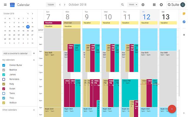 Google Calendar Shift Scheduler