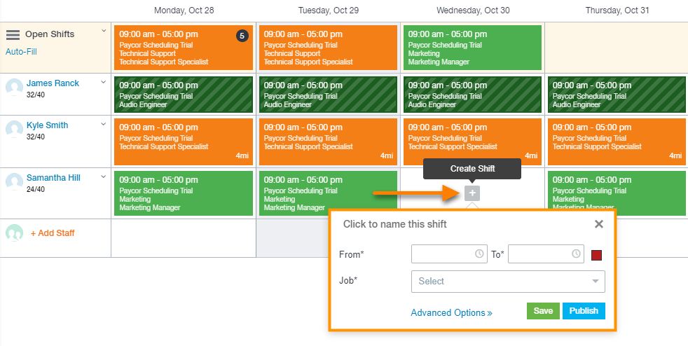 Paycor Scheduling