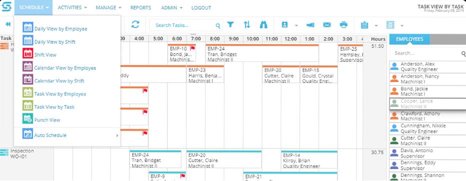 Snap Schedule Dashboard