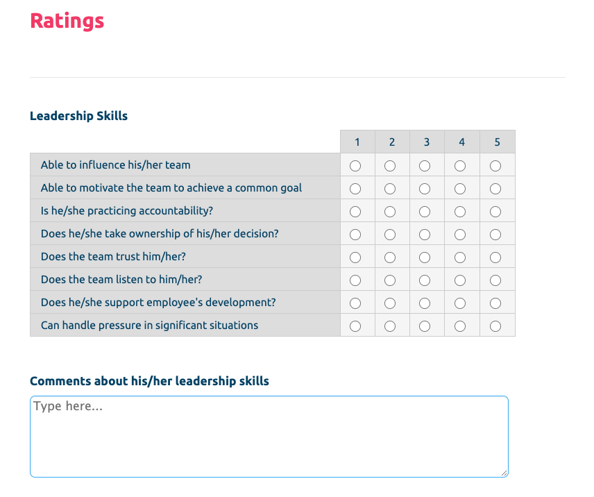 Supervisor Evaluation Form