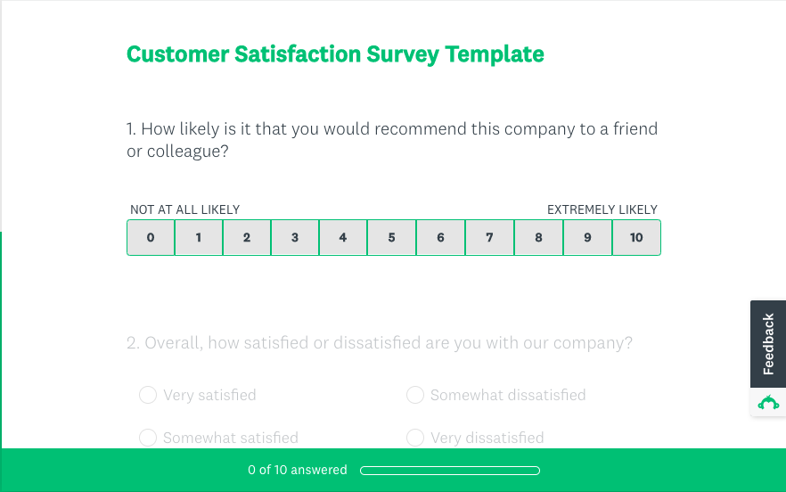 SurveyMonkey Customer Satisfaction Survey Template
