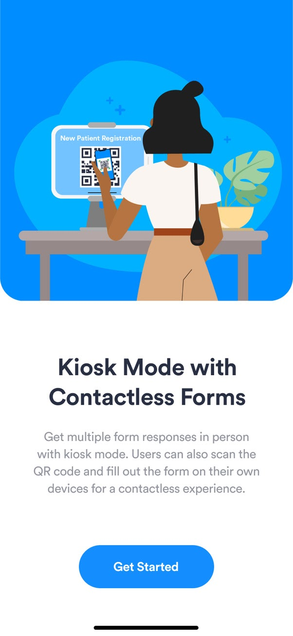 JotForm Health App Kiosk Mode with contactless forms