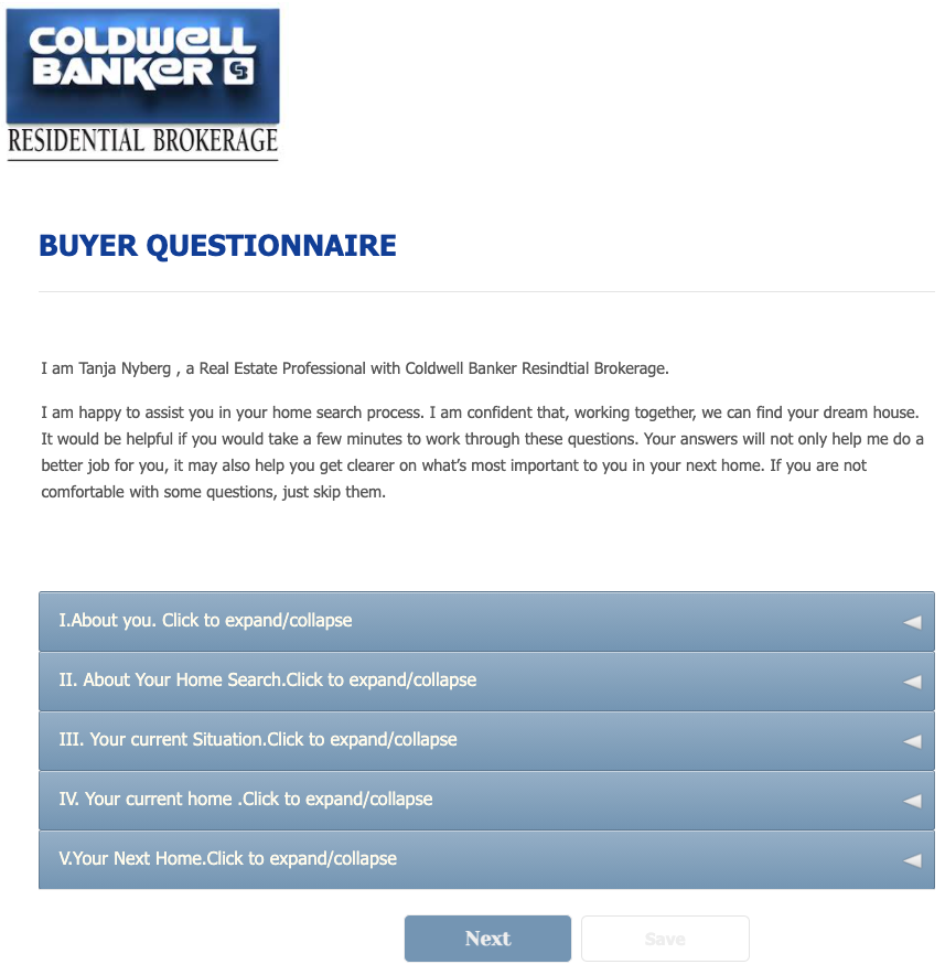 Buyers Questionnaire Template