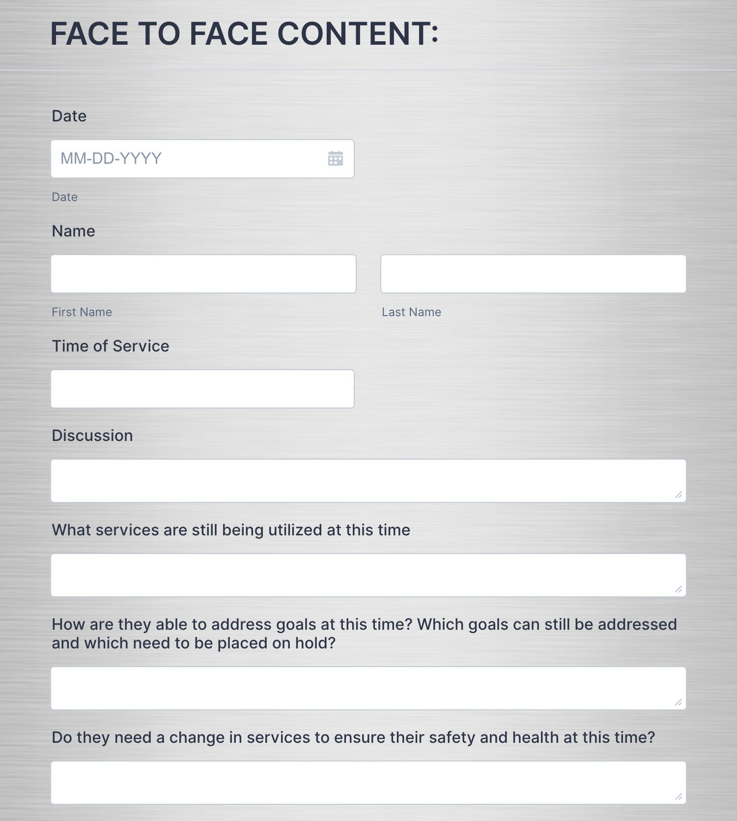 COVID-19 Questionnaire Template