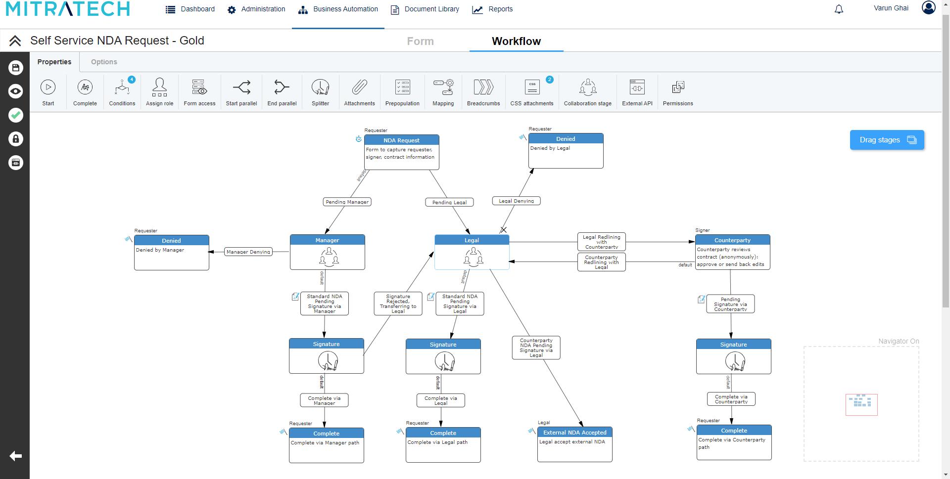 TAP Workflow Automation Workflow Designer