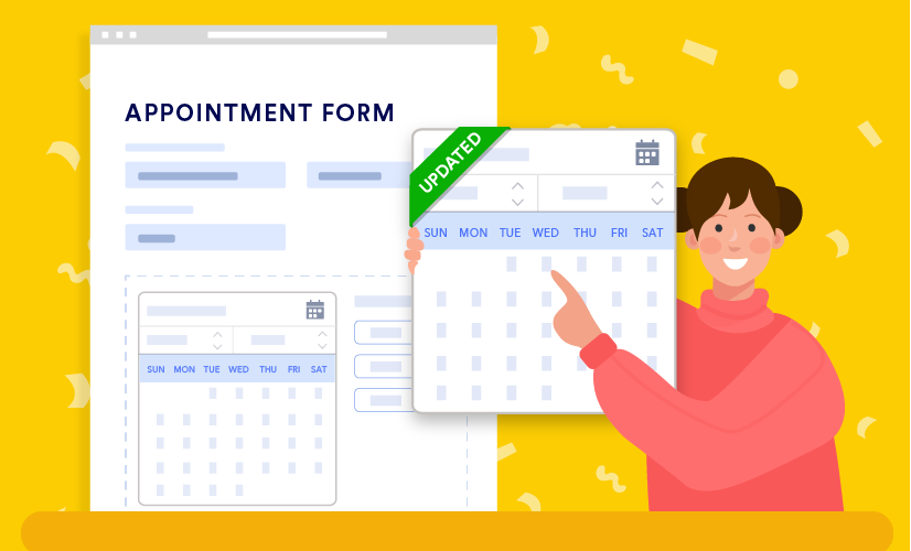 JotForm updated appointment form