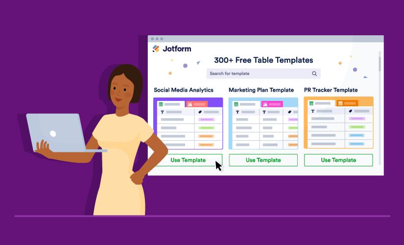 Announcing 300+ JotForm Table Templates
