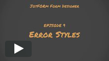 Error Styles Tutorial